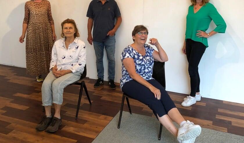 V.l.n.r: Tineke Sips, Olga Kovtun, Peter Koks, Jolanda van Hattum, Nicolette Biessels.