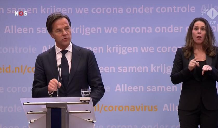 <p>Premier Rutte aan het woord.</p>