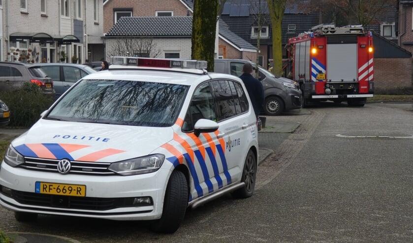 Hulpdiensten in De Poorter. (Foto: Thomas)