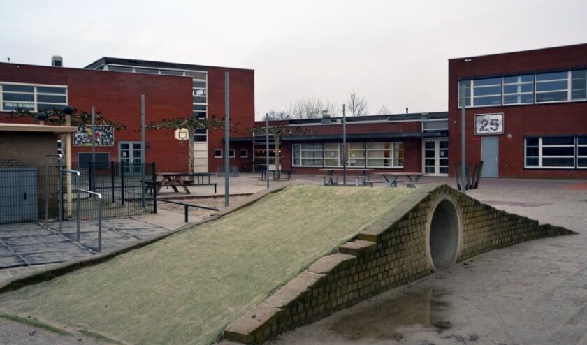 <p>Het schoolplein van &#39;t Mulderke, waar voorlopig nog even niet gespeeld gaat worden. (foto: Henk Lunenburg)</p>