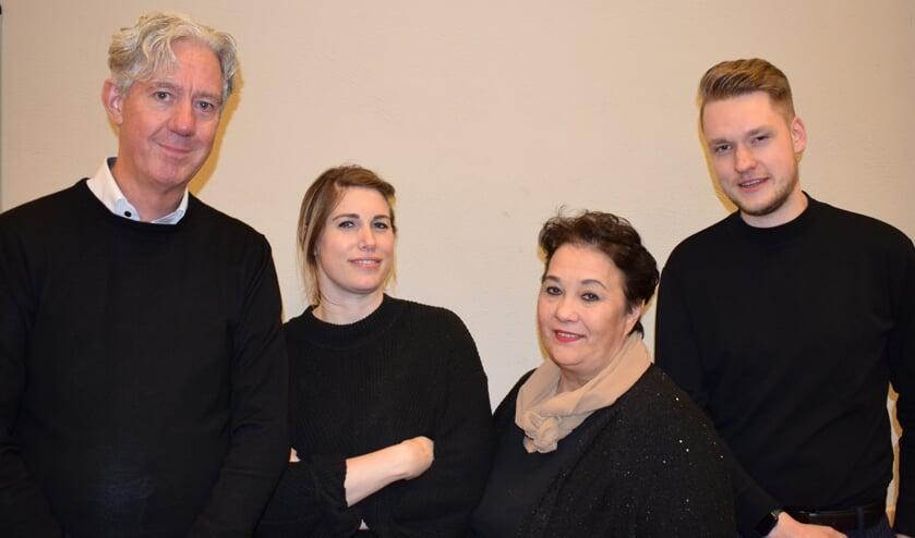 <p>V.l.n.r.: Cock de Jong, Marloes van Gils, Monique Kapp&eacute; en Toni Visschers.&nbsp;</p>