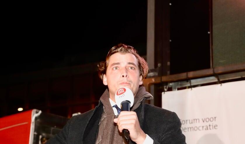 Thierry Baudet sprak Cuijk toe op het Louis Jansenplein.
