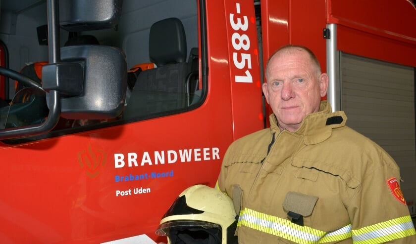 <p>Marc in de brandweerkazerne. (foto: Henk Lunenburg)</p>