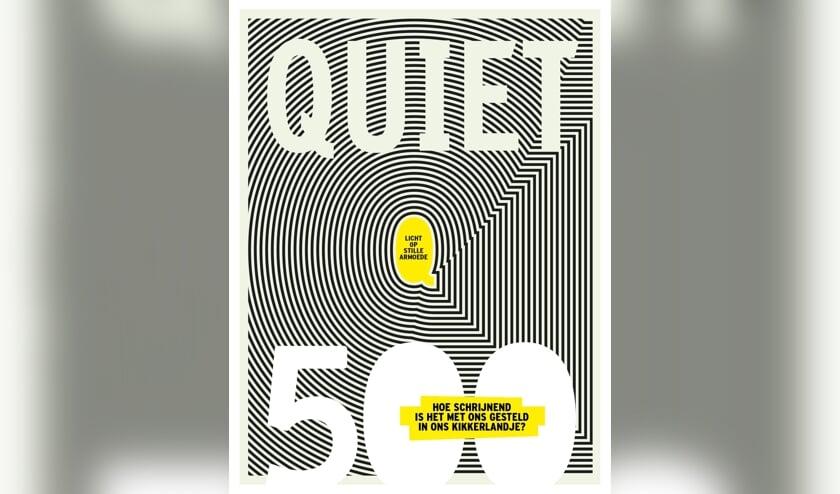 De cover van Quiet 500 schijnt letterlijk licht op armoede door het lichtgevende ontwerp van vormgever Rogier Eekelaar.