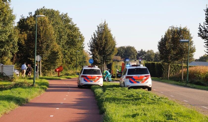 Zowel politie als ambulances waren ter plaatse om hulp te verlenen.