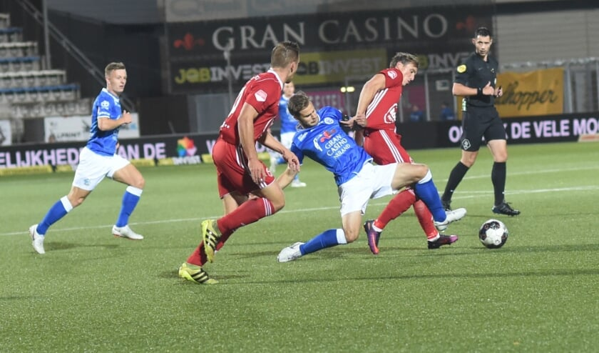 FC Den Bosch neemt het vrijdagavond in eigen huis op tegen Almere City FC. De wedstrijd eindigde vorig seizoen in een 1-1 gelijkspel. (Foto: Henk van Esch)