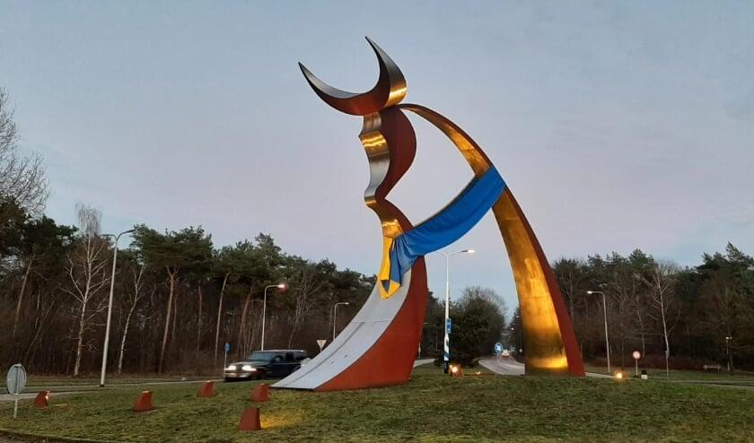 De Poort van Oss in carnavalskleuren.
