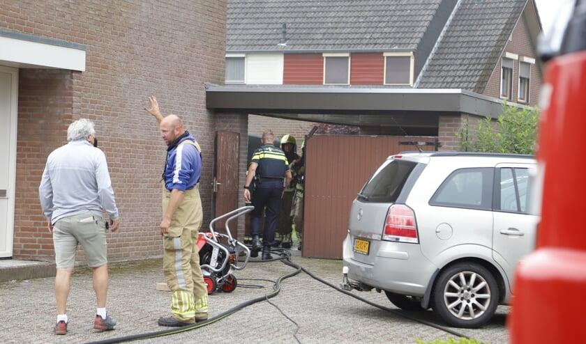 Een brand in de meterkast veroorzaakte veel schade in een woning in Heijen.