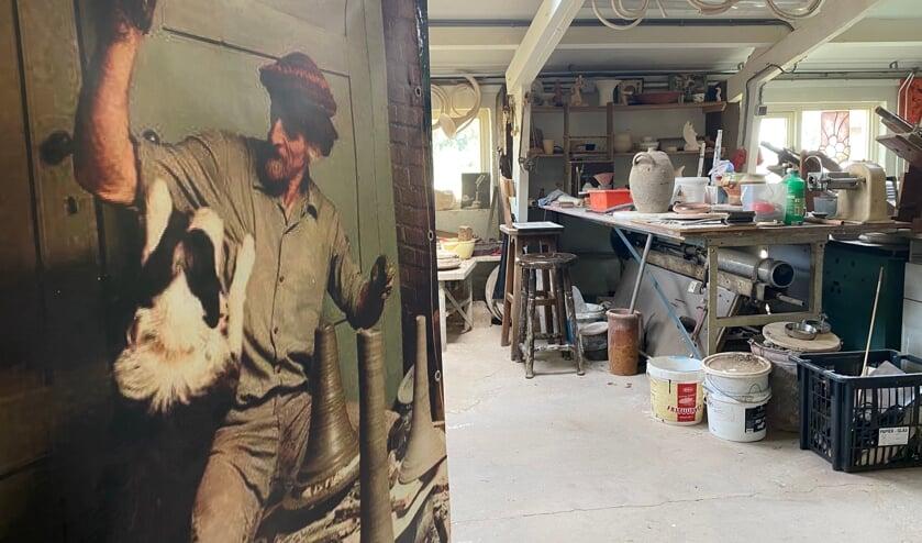 <p>Het atelier van de overleden pottenbakkerslegende Geert Jacobs (poster) wordt onderdeel van museum De Oude Pottenbakkerij.&nbsp;</p>