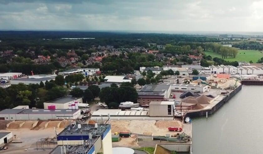 <p>Een overzichtsfoto van dde huidige haven in Heijen</p>
