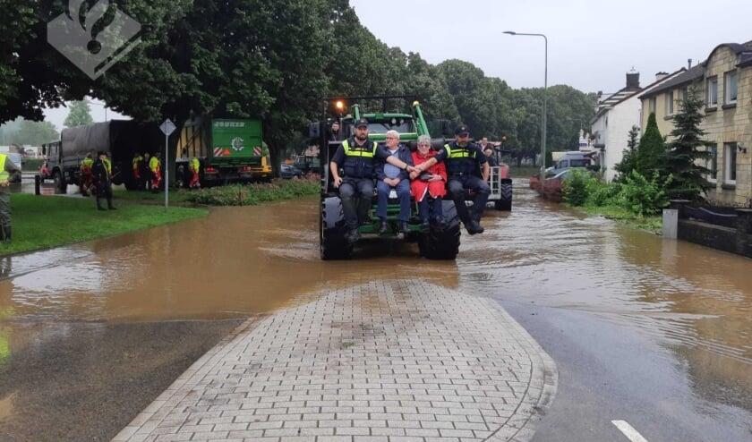 De Cuijkenaren zijn in Limburg aanwezig om te helpen.