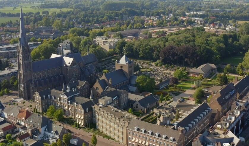 <p>Het Kloosterkwartier in Veghel vanuit de lucht.</p>