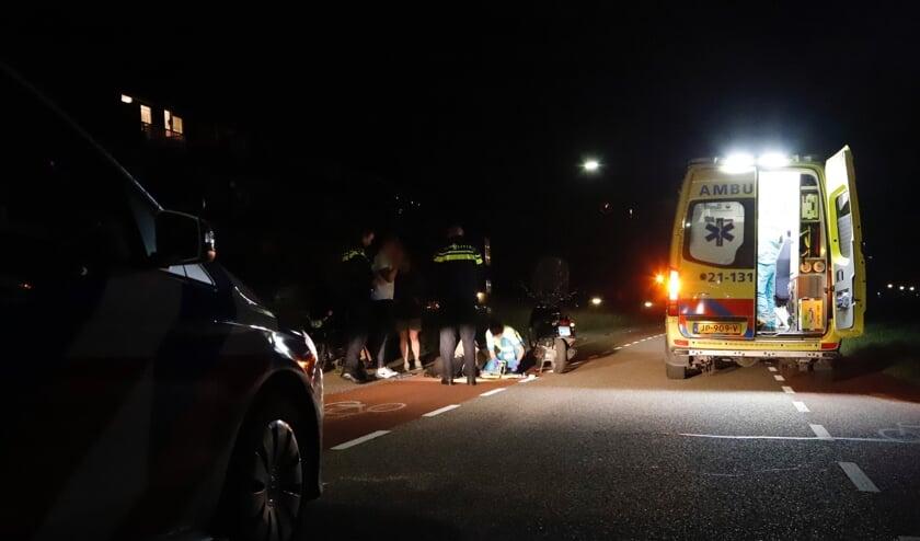 Eén van de bestuurders moest per ambulance naar het ziekenhuis worden gebracht.