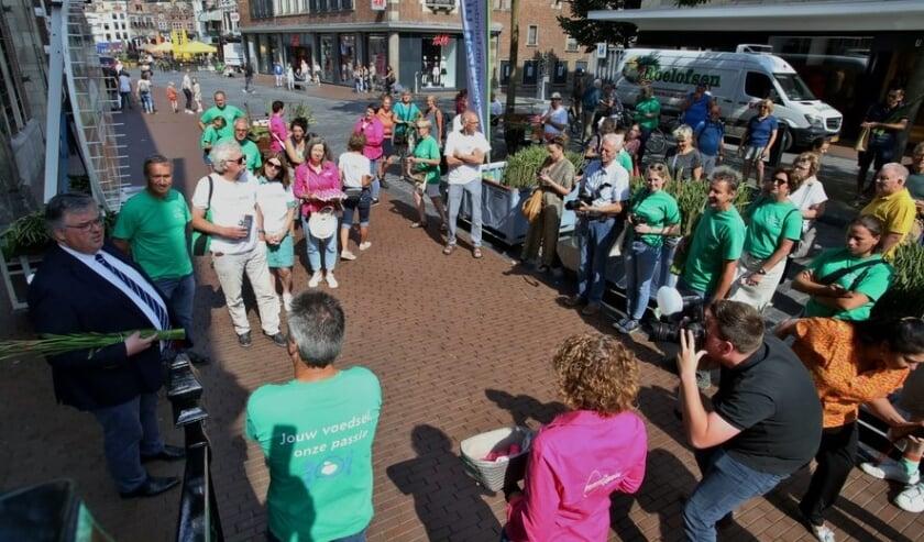 <p>Op de markt in Nijmegen (Foto: Susan Rexwinkel)</p>