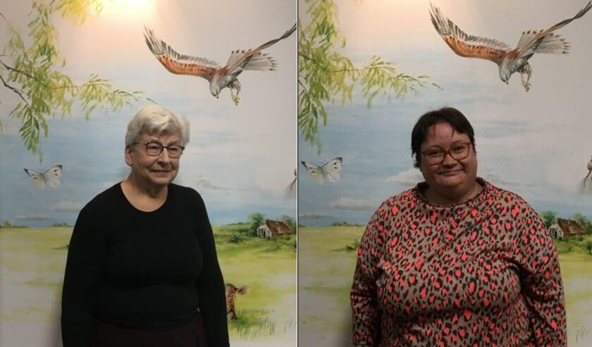 <p>Twee van de vrijwilligers van de telefooncirkel, Riek van den Akker en Mariska Cocu.</p>
