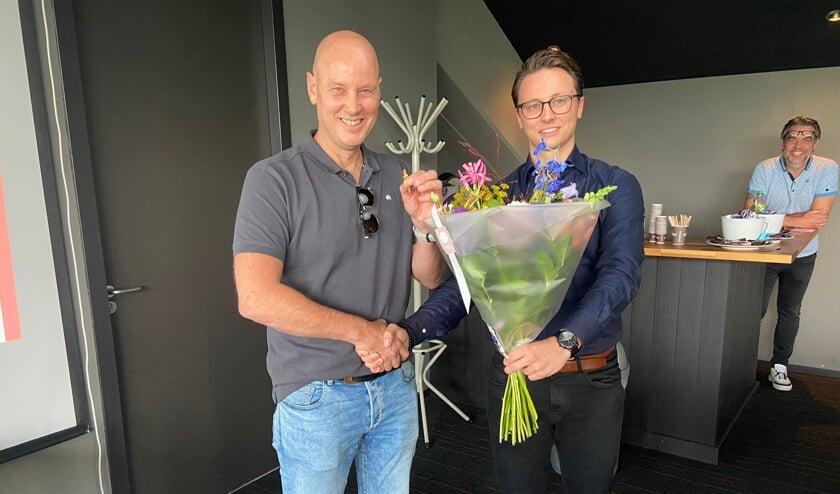 Rob den Dikken met zijn zoon Thijs.