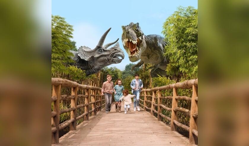 Twintig enorme dinosaurussen tijdelijke bewoners van ZooParc Overloon.