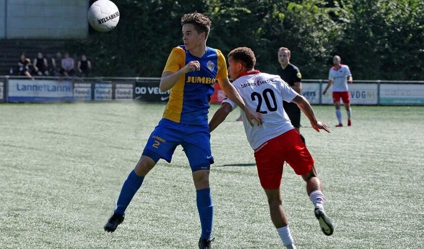 <p>Jay van Boxtel scoorde de 0-1 in Dongen</p>