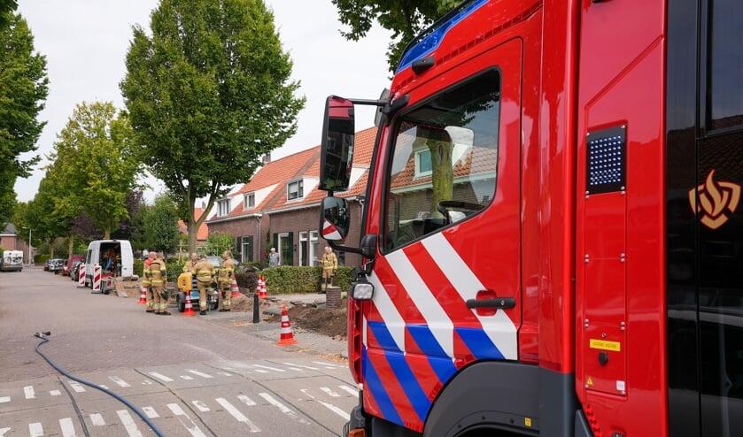 Opnieuw gaslek na werkzaamheden in Katwijkstraat. (Foto: Gabor Heeres, Foto Mallo)