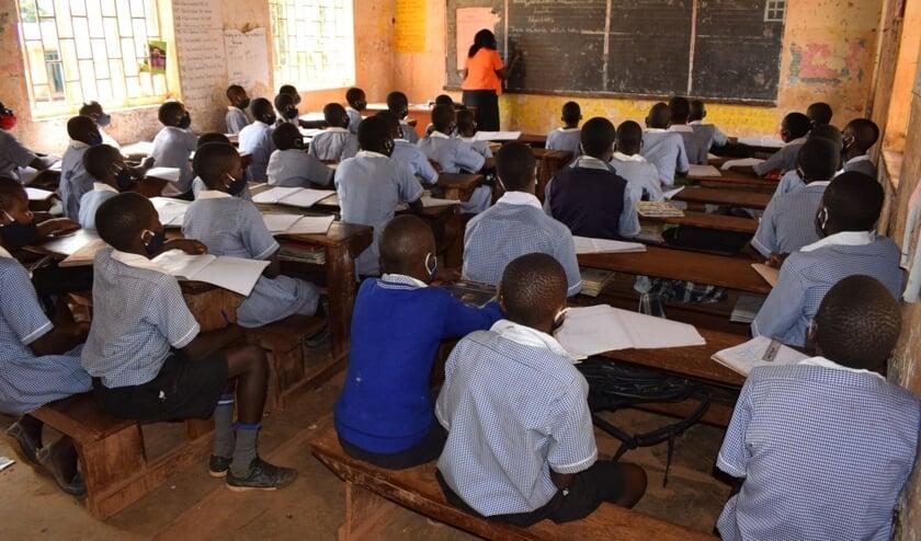 Schoolkinderen in Oeganda.