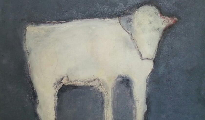 <p>Een van de koeien die in Het Petershuis te zien zijn.</p>