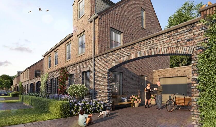 <p>Een voorbeeld van een tweekapper in de nieuwe woonbuurt Kloosterveldt.</p>