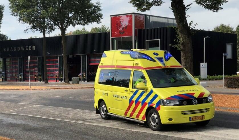 Een van de laatste ritten van de ambulance vanuit de inmiddels gesloten post in Gennep.