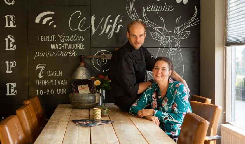 Bart en Anja van restaurant 't Genot.