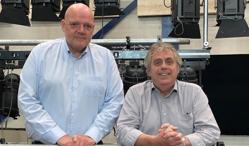 <p>Sjoerd Meijer (links) en Bart Vaessen van de Schouwburg Cuijk.</p>