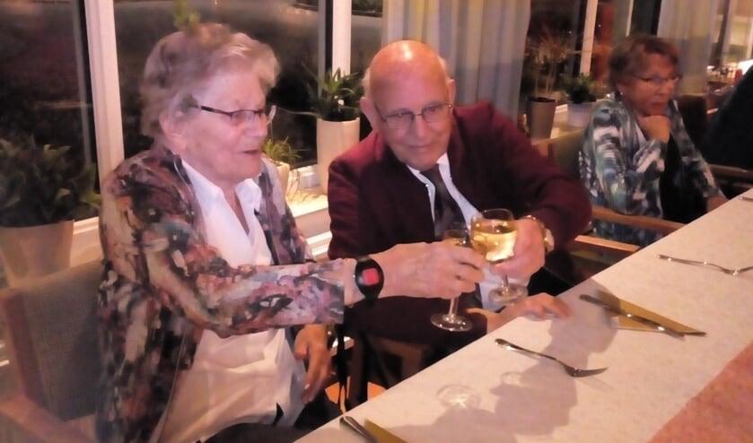 Hans en Riet van Leeuwen tijdens Vallentgoeds toost op het nieuwe jaar 2020.