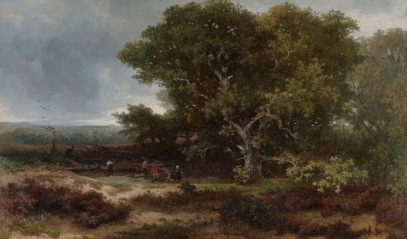Johannes Warnardus Bilders (1811-1890) De heide bij Wolfheze 1866, olieverf op doek, Rijksmuseum