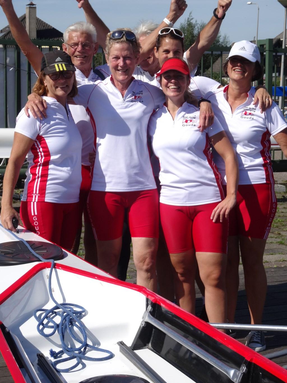 vreugde bij het winnende team van Ineke Verkaik Foto: Lida van Eck © Graficelly B.V.