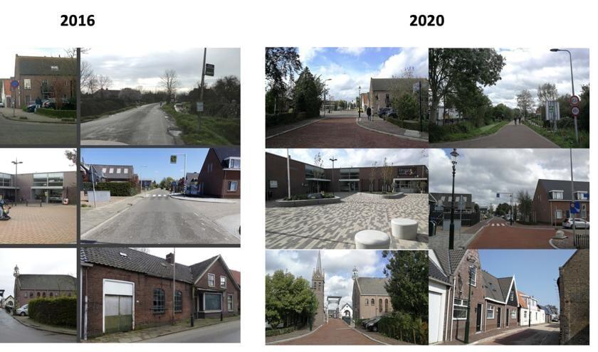 <p>Voor en na foto's van Nieuwerbrug aan den Rijn.</p>