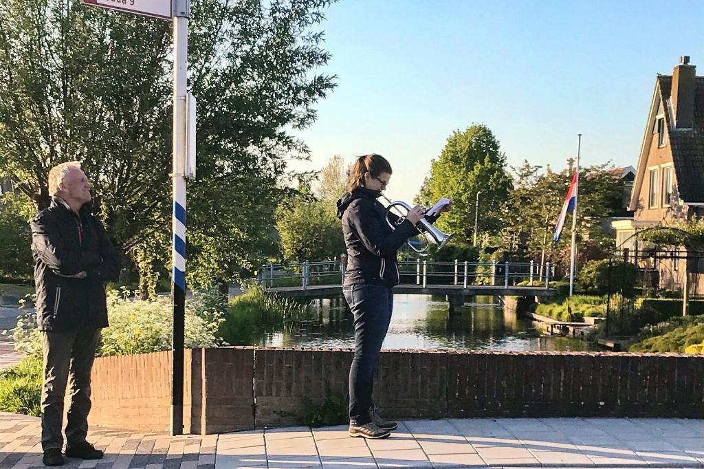 Willeke van Duuren blies in Driebruggen de Taptoe/Lastpost Foto:  © Graficelly B.V.