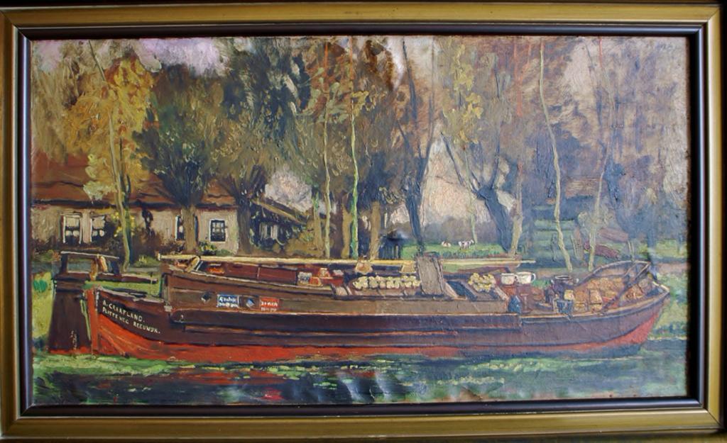 Naast de kruidenierswinkel werd er vanaf 1893 ook met een boot gevaren. Foto:  © Graficelly B.V.
