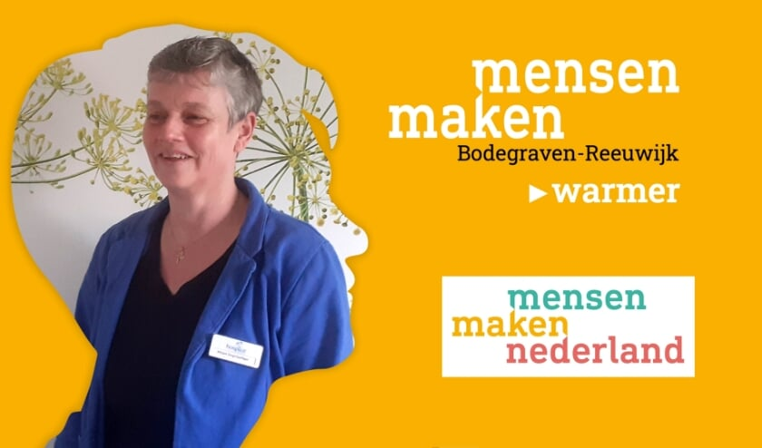 <p>Vrijwilliger Mirjam van Blotenburg biedt de gasten een luisterend oor.</p>