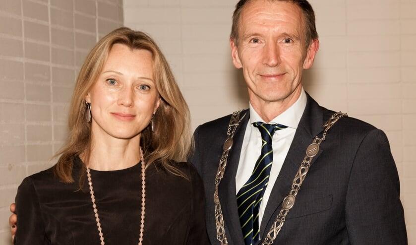 <p>Waarnemend burgemeester Erik van Heijningen en echtgenote Daria.</p>