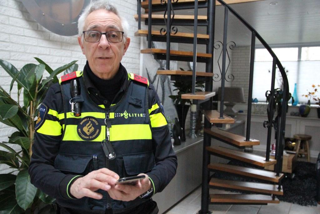 Rien Visser is hoofdagent in het gebied Lansingerland.  © hartvanlansingerland