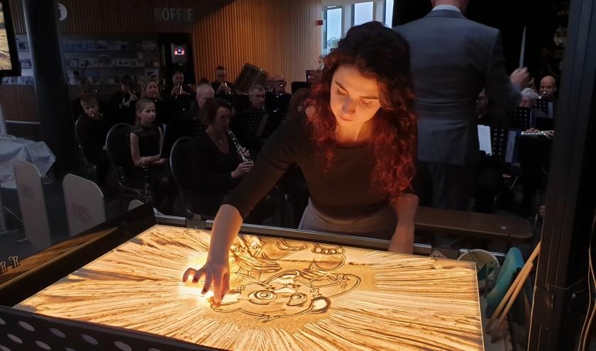 De Zandprinses brengt beelden tot leven, zoals hier de Lion King. (Foto: AN)