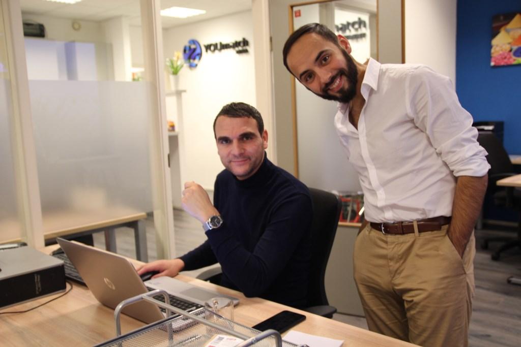 Karim met een van zijn collega's.  © hartvanlansingerland