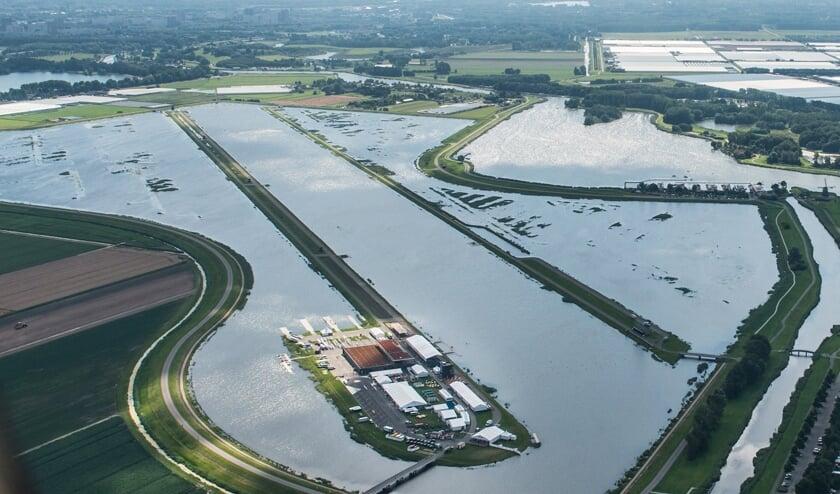 Waterberging in de Eendragtspolder. (Foto: AD/Merijn Soeters