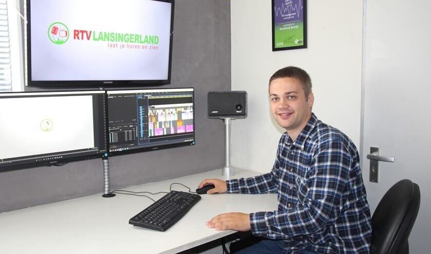 Patrick aan het werk voor RTV Lansingerland.