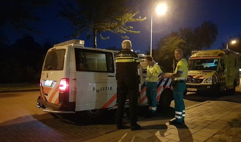 De hulpdiensten waren na de mishandeling snel aanwezig. (Foto: Spa Media)