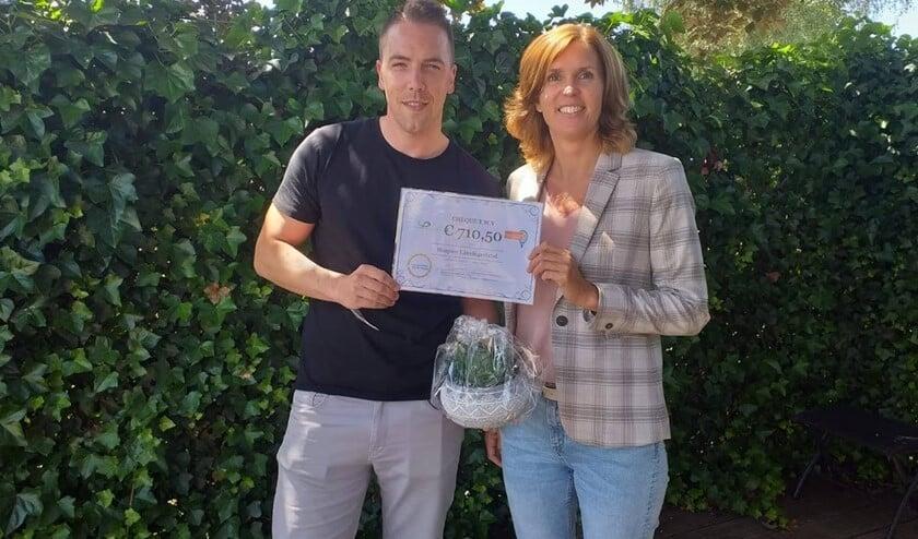 De loterij bracht een bedrag van 710,50 euro op voor Hospice Lansingerland.