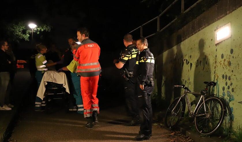 Behulpzame omstanders schakelden al snel de hulpdiensten in. (Foto: Spa Media)