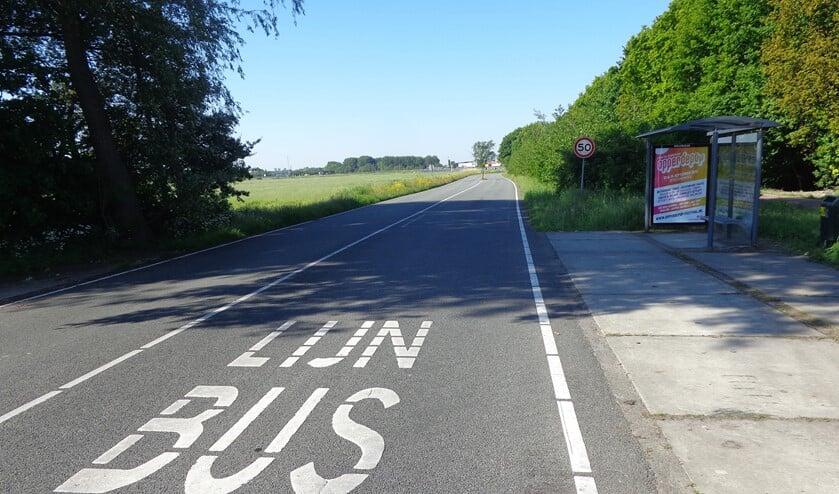 De bewuste bushalte aan de Bonfut.