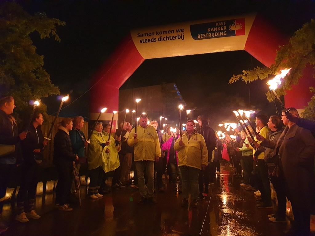 De kaarsenceremonie was erg indrukwekkend.  © hartvanlansingerland