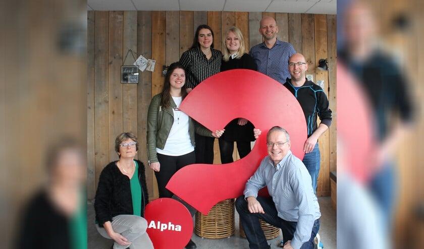 Het Alpha team 2020 v.l.n.r. Carina, Renske, Mery, Tamara, Guido, Matthijs en Johan. (Foto: PR)