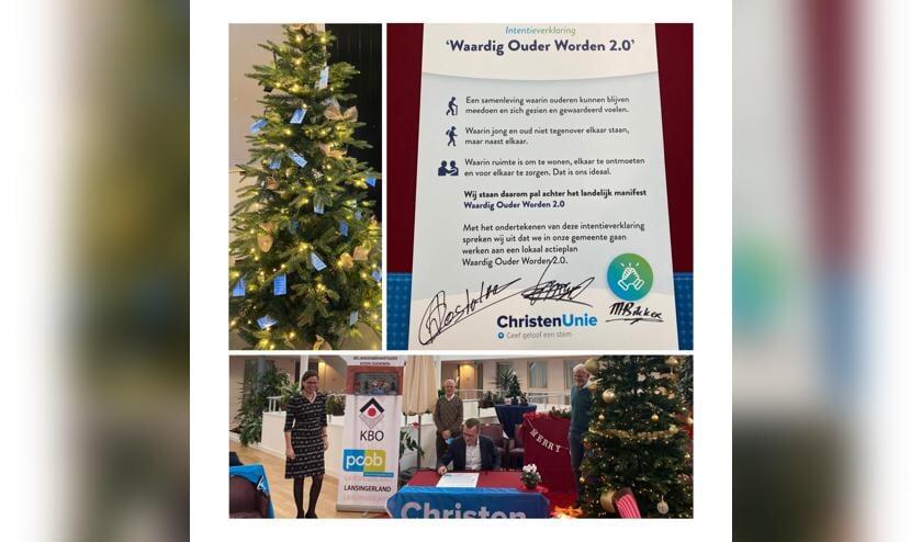 <p>Kees-Willem Markus, Arnold Oosterlaan en Mirjam Bikker ondertekenen de intentieverklaring.</p>