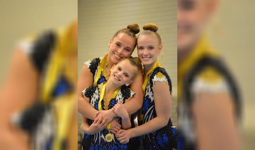 De gouden medaille én hoge punten voor Ruby de Leon, Ilse Vos en Nerissa Stillebroer.